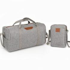 Bộ đôi túi du lịch N991 TẶNG túi đeo chéo vải S210 xám
