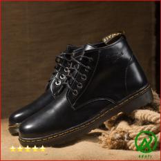 Giày Boot Nam Cổ Lửng Đế Khâu Da Trơn Cực Chất – M354