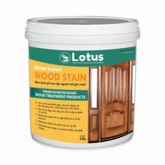 Sơn gỗ – Màu stain gỗ, không dung môi, không phai màu, an toàn, hệ nước – Lotus wood stain – 1kg