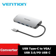 Type C – Cáp chuyển USB Type-C to VGA/USB3.0*3/ PD Vention CGQHA