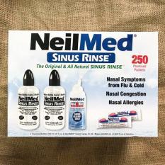 Bộ Sản Phẩm Nước Muối Rửa Mũi Neilmed Sinus Rinse 250 gói