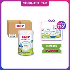 Thùng 6 lon Sữa bột dinh dưỡng công thức HiPP 3 Organic Combiotic hỗ trợ, tăng cường sức khoẻ hệ miễn dịch, bổ sung omega 3,6 (DHA&ARA) dành cho trẻ dưới 1-3 tuổi (6 lon x 800g)