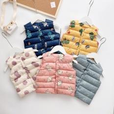 [HÀNG QC LOẠI I] Áo khoác phao 3 lỗ bé trai bé gái nhồi bông dầy dặn_Quần áo trẻ em thu đông, áo khoác gile cho bé trai bé gái, thời trang cho bé từ 8- 20 kg