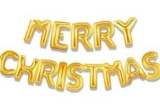 Bóng chữ Merry Christmas trang trí Giáng sinh Noel 2019