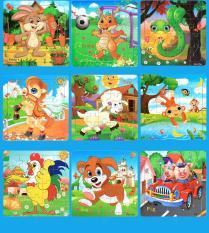 Combo 4 tranh ghép gỗ 20 mảnh – chủ đề động vật