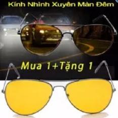 Bộ đôi kính mắt vàng nhìn xuyên đêm PA102 ( 2 cái )