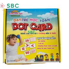 [HCM]Bộ thẻ chấm 56 thẻ Dotcard 21x21cm to dày đẹp Giúp con học Toán Flashcard Glenn Doman