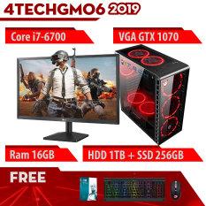 Máy tính chơi Game Vip nguyên bộ 4TechGM06 2019 đời mới kèm màn 24inch Full HD, Case PC Desktop chiến mọi Game đòi cấu hình khủng, chơi Maxsetting all Game phổ thông, thiết kế đồ họa, edit video, làm youtube, người live streamer chuyên nghiệp.