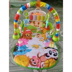 Thảm nhạc piano cao cấp cho bé nằm chơi có nhạc và đồ chơi lục lac cho bé- thảm nhạc cho bé