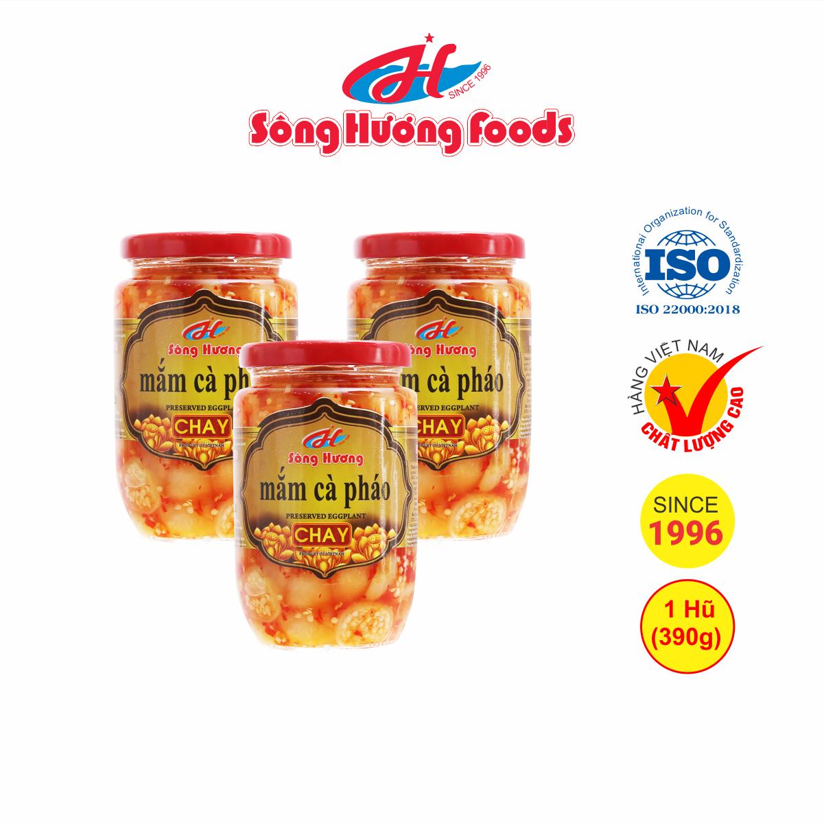 3 Hũ Mắm Cà Pháo Chay Sông Hương Foods Hũ 390g