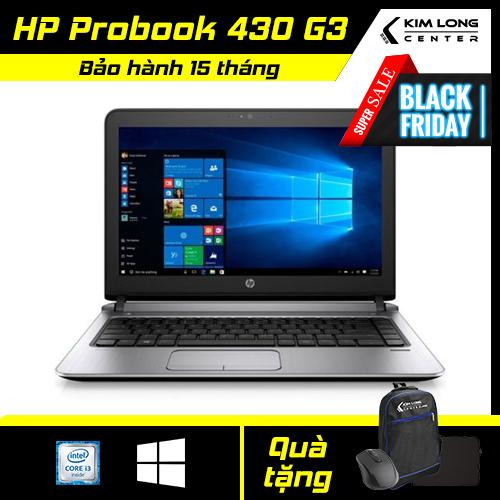 [NHẬN NGAY VOUCHER 500K] Laptop giá rẻ HP Probook 430 G3 : i3-6100U | 8GB RAM | 120GB SSD | HD Graphics 520 | 13.3 HD | Win10 Pro | Black