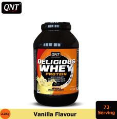 Thực phẩm bổ sung QNT Delicious Whey Protein 2.2kg Vani – HSD: Cuối Tháng 1, 2021