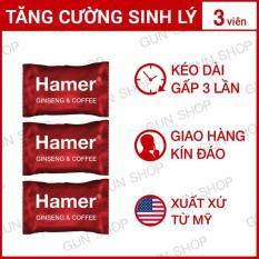 Bộ 3 Kẹo Sâm Malaysia Hamer – Kéo Dài Thời Gian Quan Hệ Cải Thiện Ham Muốn Sức Khỏe Nam Giới – 3 Viên
