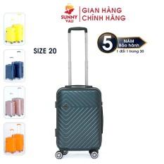 [Miễn phí vận chuyển] Vali kéo du lịch SUNNY SV02 size 20 – Nhựa dẻo PC vân xước, khóa TSA tiêu chuẩn Mỹ