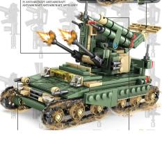 Đồ chơi lắp ráp xe tăng bộ 4 trong 1