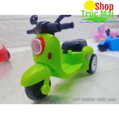 Đồ chơi trẻ em mô tô Xe máy mini chạy cót 3 bánh dễ thương nhiều màu sắc