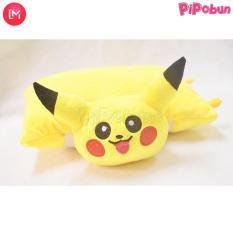 Gối đi xe máy 1 đầu cho bé – hình Pikachu – Màu vàng hãng Pipobun