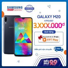 Điện thoại Samsung Galaxy M20 – Hàng phân phối chính hãng. Siêu pin 5000mAh, màn hình 6.3 inch, camera kép, Vi xử lý 8 nhân