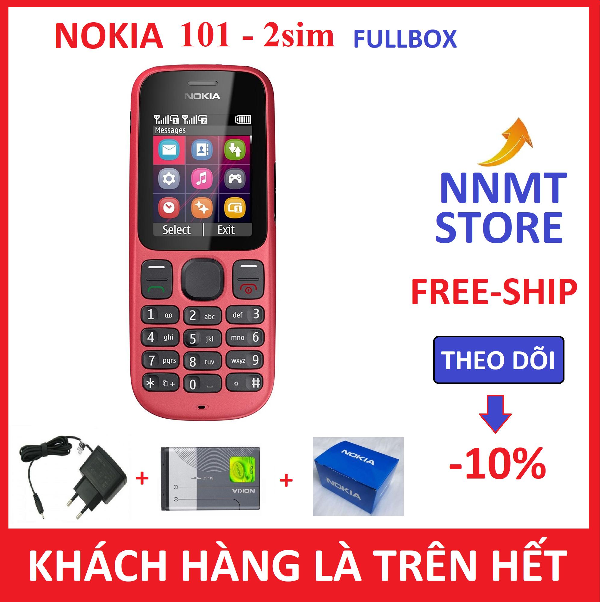Điện thoại Nokia 101 2 SIM – (Máy + pin + sạc) – Hàng công ty Chính Hiệu Xả Kho – Siêu rẻ – NNMT STORE