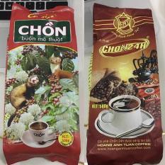 Combo 2 bịch Cà phê pha Phin truyền thống Chồn 24h thượng hạng 1000gr 2 bịch