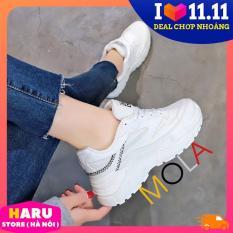 Giày sneaker nữ Đế trắng đẹp Viền chữ XXX (Trắng vạch đỏ, Trắng vạch đen) – HARU STORE ( Hà Nội )