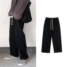 Quần dài Black Pants, quần nỉ nam nữ Unisex dáng xuông ống rộng