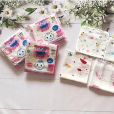 Sét 10 Khăn Sữa Cho Bé Xuất Nhật- Cotton – An Toán Cho Bé – 32x32cm [ Video ]