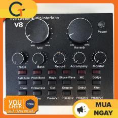 [Nhập ELMAY21 giảm 10% tối đa 200k đơn từ 99k]Sound card V8 có Auto Tone dành cho micro thu âm