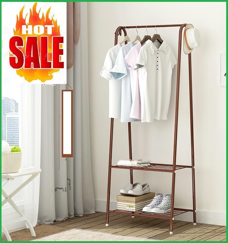 (KÈM ẢNH THẬT) Kệ giá treo quần áo chữ A mẫu mới- Kệ treo quần áo khung sắt sơn tĩnh...