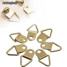 Jettingbuy FX 20 Cái/gói Đồng Thau Vàng Ánh Kim Tam Giác Ảnh Hình Ảnh Hình Ảnh Khung Treo Tường Móc Treo Vòng Treo