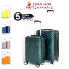 [Miễn phí vận chuyển] Vali kéo du lịch SUNNY SV02 – Nhựa dẻo PC vân xước, khóa TSA tiêu chuẩn Mỹ, cổng sạc USB độc đáo (size 20-24)