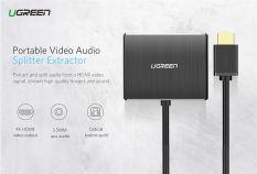 Bộ Chia HDMI ra HDMI kèm Audio 3.5mm/Optical Chính Hãng UGREEN 40281 Cao Cấp