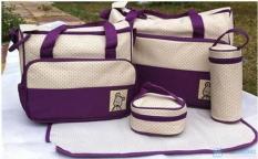 Bộ túi đựng đồ cho mẹ và bé 5 chi tiết cao cấp