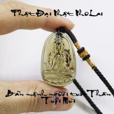 Phật bản mệnh 12 giáp – Dây chuyền mặt phật Đại Nhật Như Lai size nhỏ – Phật bản mệnh tuổi Thân, Mùi