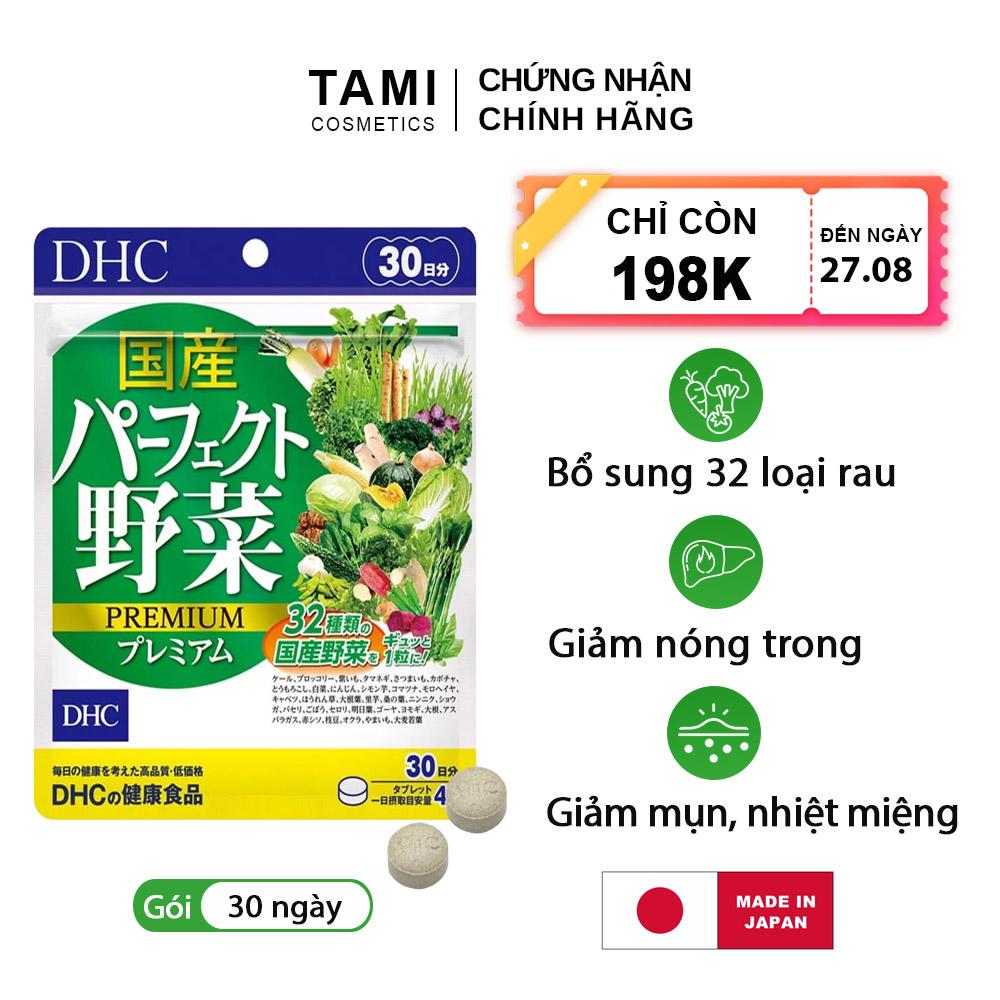 Viên uống rau củ DHC Nhật Bản thực phẩm chức năng 32 loại rau bổ sung chất xơ, hỗ trợ...