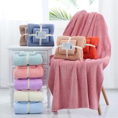 Khăn tắm kèm khăn mặt siêu mềm set 2 cái Yodo chất bông siêu mềm mịn