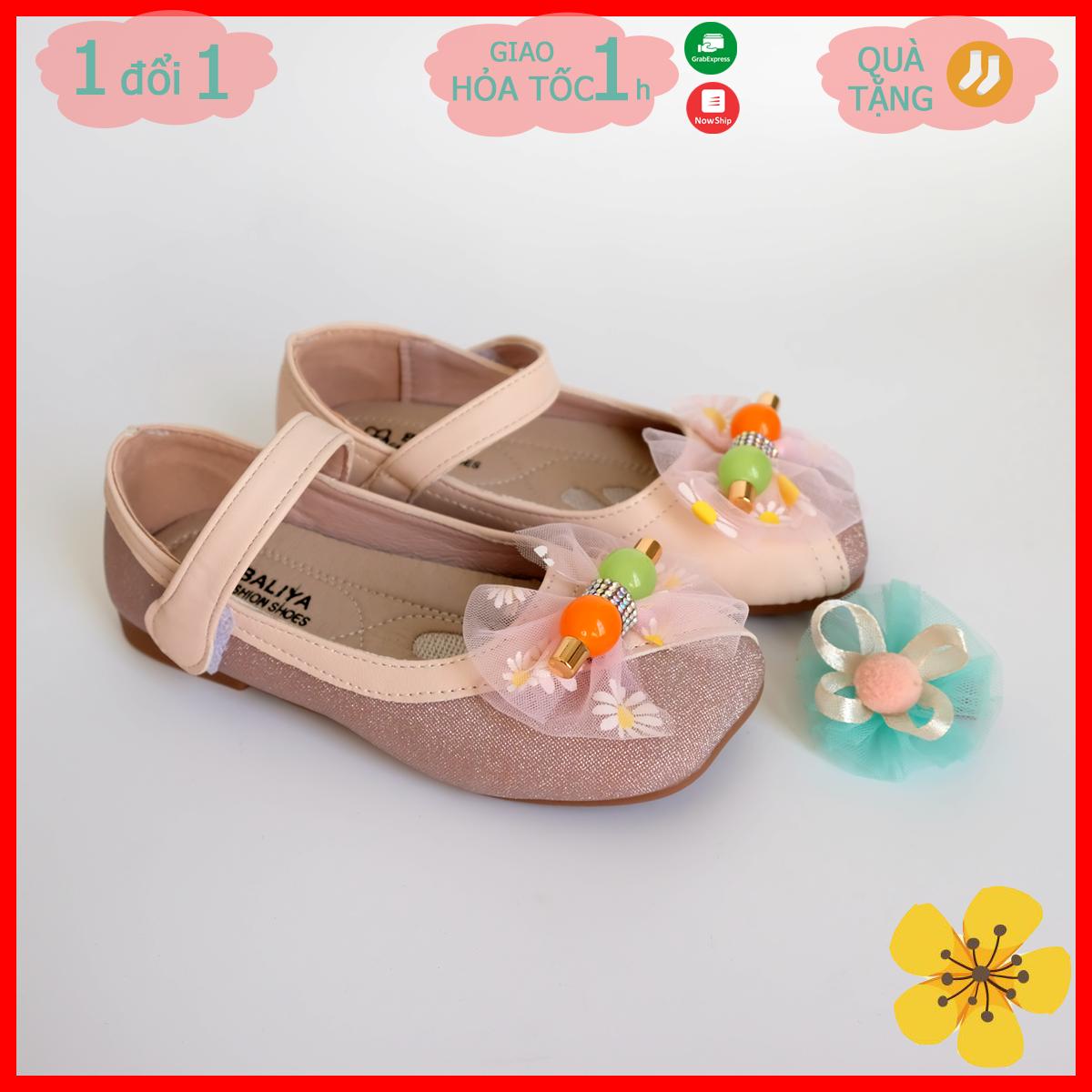 Giày búp bê bé gái màu hồng, giày búp bê công chúa bé gái màu hồng mẫu Tết 2021 – May House shop
