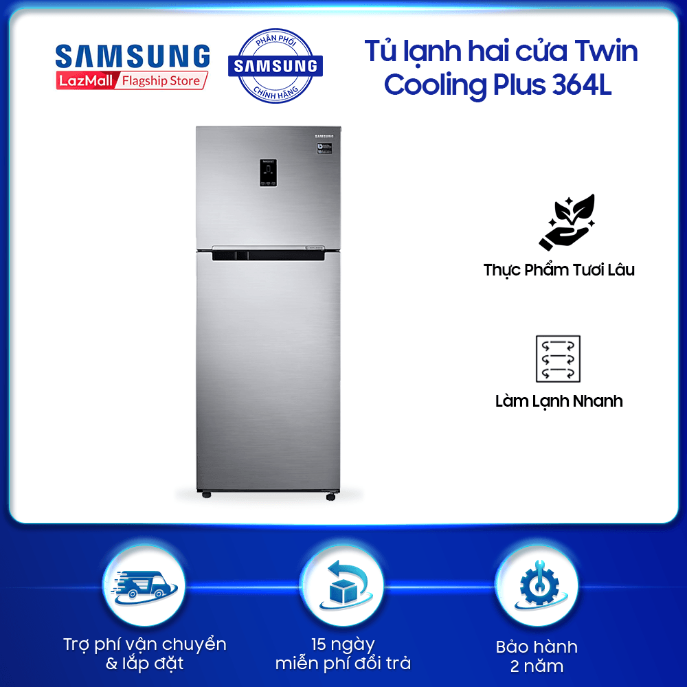 Tủ lạnh hai cửa Twin Cooling Plus Samsung 364L công nghệ Digital Inverter tiết kiệm điện năng – RT35K5532S8 – REF