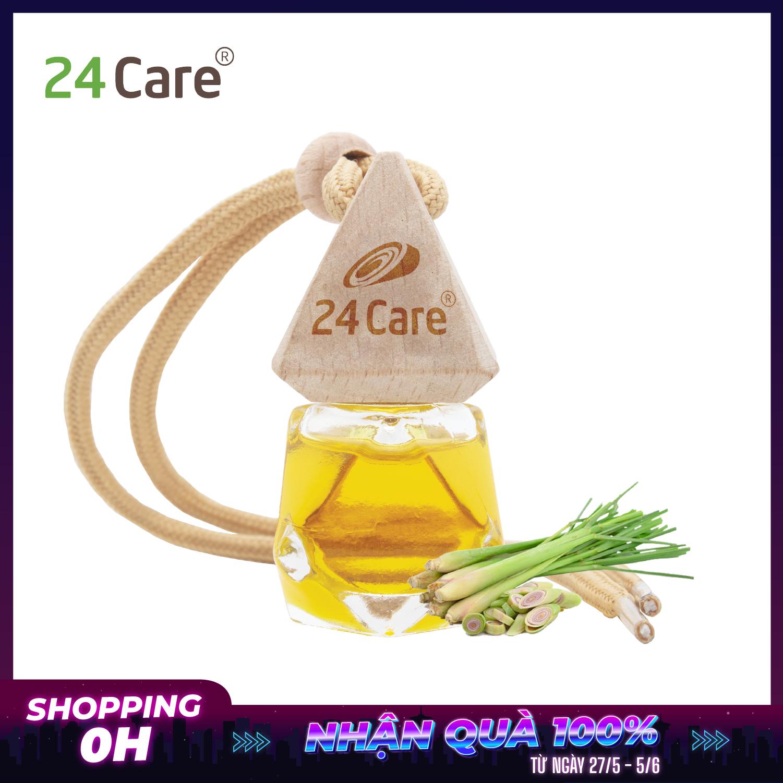 Lọ treo tinh dầu Bạc Hà 24Care – Chiết xuất thiên nhiên – Treo tủ, treo xe, treo giường ngủ
