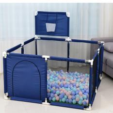 Nhà bóng cho bé giá rẻ tặng 100 bóng, Cũi banh trẻ em có đồ chơi vận động, thiết kế chắc chắn dễ vệ sinh có thể gấp gọn mang theo