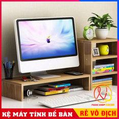 Kệ để màn hình máy tính, laptop nâng cao màn hình chống gù lưng, chống đau vai, kệ máy tính để bàn có hộc để tài liệu