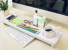Kệ để đồ, phụ kiện cá nhân bàn làm việc trước màn hình máy tính
