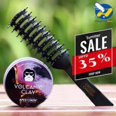 [BIGSALE 35%] Sáp vuốt tóc Apestomen Volcanic Clay Ver 3 Nắp nhôm – sáp vuốt tóc, sáp vuốt tóc nam, gôm sáp vuốt tóc + Tặng 1 lược Chaoba tạo phồng – [APESTOMEN VOLCANIC]