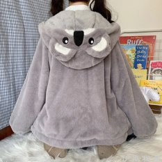 Áo khoác lông nữ mùa đông tai gấu ấm áp dễ thương thời trang nữ CÓ ẢNH THẬT