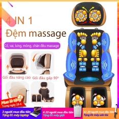 Đệm massage máy mát xa ghế mát xa ccor vai gáy lưng chân đệm massage đa chức năng dùng cho gia đình TopOne2020