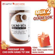 [MUA 2 GIAM 50K+ QUA] Bột CACAO SỮA hòa tan 3 in 1 Light Cacao đậm đà thơm ngon,dùng pha uống liền, đặc biệt không pha trộn hương liệu, 100% từ cacao nguyên chất – hũ 550g