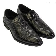 giày tây công sở nam da bò vân cá sấu