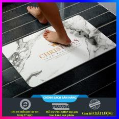 Thảm đá chùi chân nhà tắm siêu thấm 60×40 cm – cao cấp, sang trọng + tặng kèm lưới lau chùi (đủ mẫu lựa chọn)