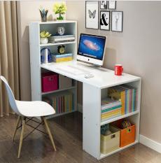 (Hình thật) Bàn kệ sách 4 tầng thiết kế thông minh, mặt bàn phủ Melamin 2 mặt chống trầy xước, ẩm mốc kết hợp kệ không gian nhà bạn thật tuyệt vời KT120x47x75/120 NgoTico (bàn học sinh, bànlàmviệc, bàn văn phòng, bàn liền kệ sách)