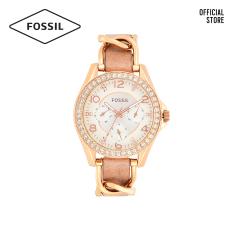 Đồng hồ nữ FOSSIL Riley Multifunction dây thép không gỉ ES3466 – màu rose gold